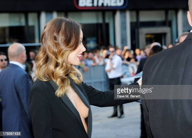 Olivia Wilde attends the World Premiere of 'Rush' at Odeon Leicester Square on September 2 2013 in London England