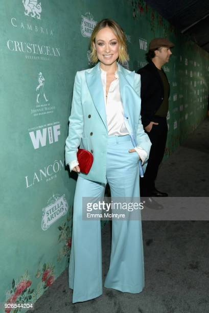 Olivia Wilde attends Women In Film PreOscar Cocktail Party presented by Max Mara and Lancome with additional support from Crustacean Beverly Hills...