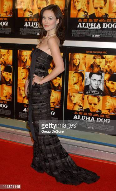 Olivia Wilde during Alpha Dog Los Angeles Premiere Arrivals at ArcLight Theatre in Hollywood California United States