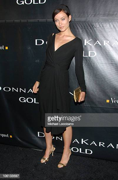 Olivia Wilde during Donna Karan Gold Fragrance Collection Launch at Donna Karan Flagship on Madison in New York City New York United States