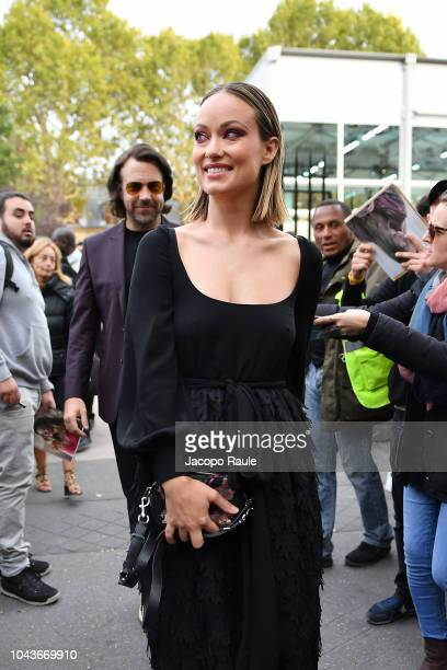 Olivia Wilde is seen arriving at Valentino fashion show during Paris Fashion Week Womenswear Spring/Summer 2019 on September 30 2018 in Paris France