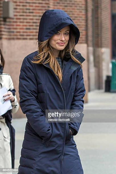 Olivia Wilde is seen heading to Z100 radio station on February 26 2015 in New York City