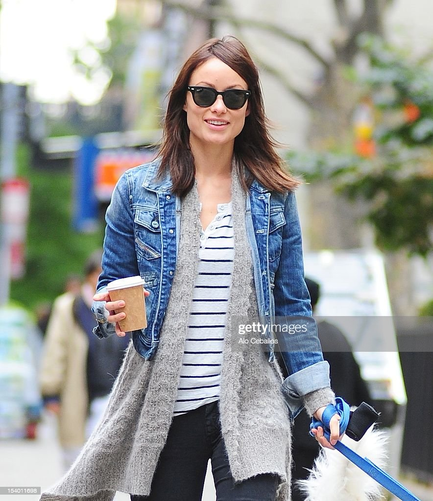 Olivia Wilde is seen in the Meat Packing District on the Streets of Manhattan on October 12, 2012 in New York City.