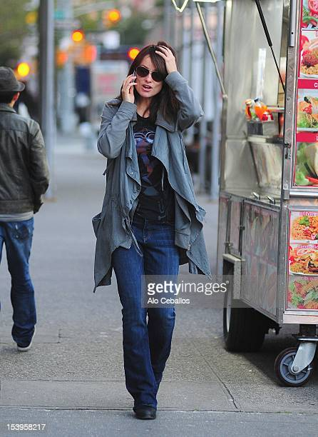 Olivia Wilde is seen in the West Village on the streets of Manhattan on October 11 2012 in New York City