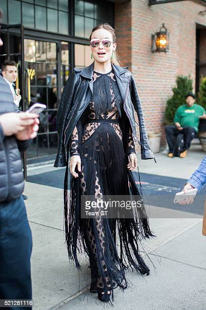 Olivia Wilde is seen on April 14 2016 in New York City