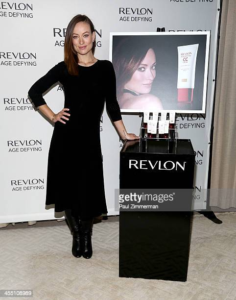 Olivia Wilde launches new Revlon Age Defying Collection on December 11 2013 at Trump Soho Hotel New York City
