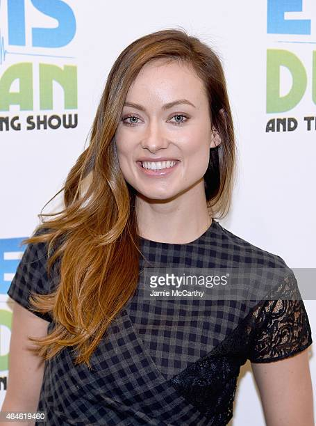 Olivia Wilde poses for a photo during The Elvis Duran Z100 Morning Show at Z100 Studio on February 26 2015 in New York City