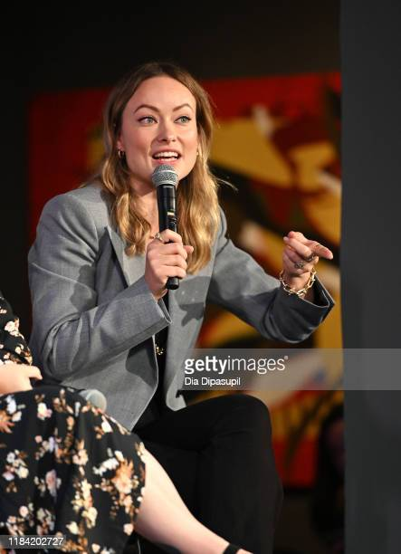 Olivia Wilde speaks onstage during the Wonder Women: Directors panel at the 22nd SCAD Savannah Film Festival on October 29, 2019 at Gutstein Gallery...