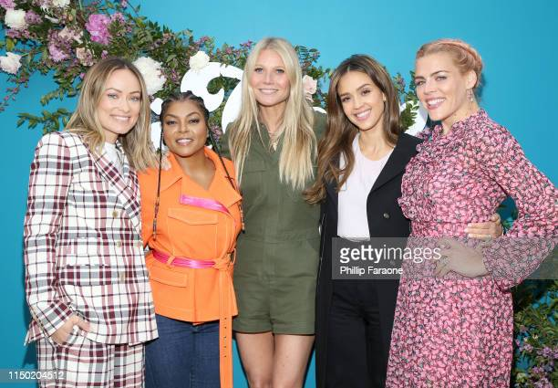 Olivia Wilde, Taraji P. Henson, goop CEO Gwyneth Paltrow, Jessica Alba, and Busy Philipps attend In goop Health Summit Los Angeles 2019 at Rolling...