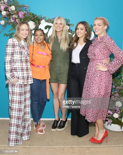 Olivia Wilde, Taraji P. Henson, goop CEO Gwyneth Paltrow, Jessica Alba and Busy Philipps attend In goop Health Summit Los Angeles 2019 at Rolling...