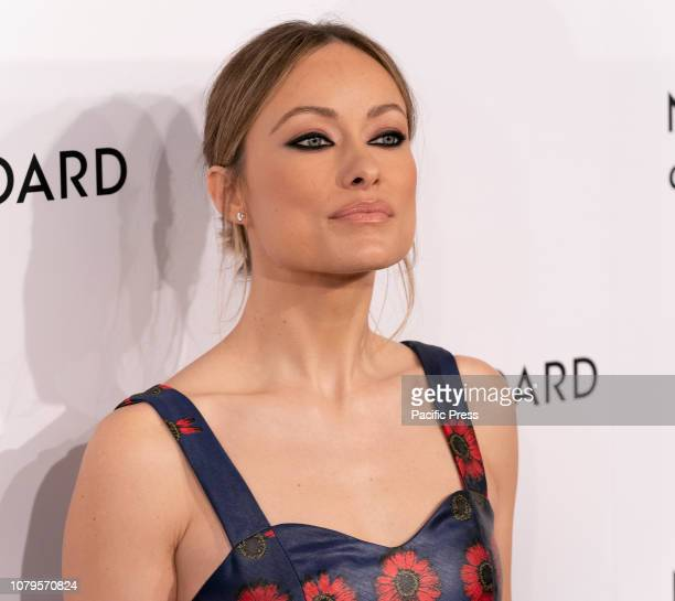 Olivia Wilde wearing dress by Jonathan Cohen attends National Board of Review 2019 Gala at Cipriani 42nd street.