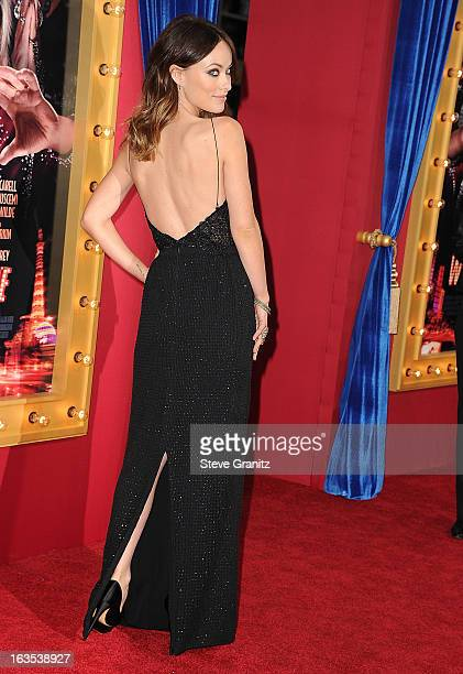Olivia Wildearrives at the 'The Incredible Burt Wonderstone' Los Angeles Premiere at TCL Chinese Theatre on March 11 2013 in Hollywood California