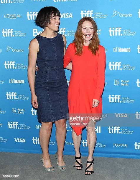 Olivia Williams and Julianne Moore arrive at the photo call of Map To The Stars held during 2014 Toronto International Film Festival - Day 6 held on...