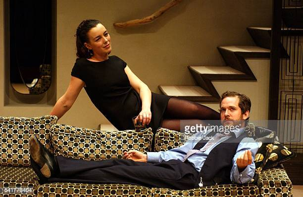 Olivia Williams and Tom Hollander in the production 'The Hotel In Amsterdam' at the Donmar Warehouse