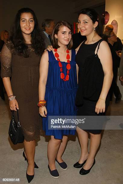 Olivia Wind Natalie Friedman and Ariel Wind attend Ettore Sottsass New Works 2005 – 2007 Ron Arad Restless Opening at Friedman Benda on September 19...
