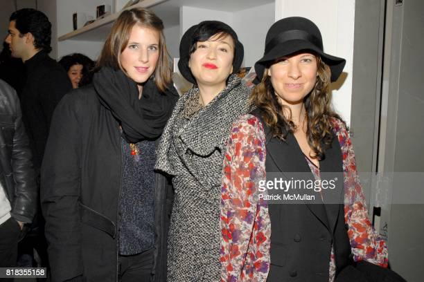 Olivia Windisch Fay Cantor Stephans and Lucy McIntyre attend Fashion Loves HANUK at Bellhaus on February 12 2010 in New York City
