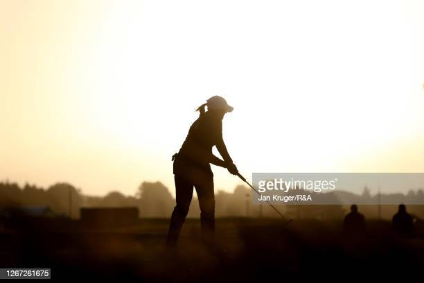 OliviaMehaffey of Northern Ireland putts on the 1st green during Day One of the 2020 AIG Women's Open at Royal Troon on August 20, 2020 in Troon,...