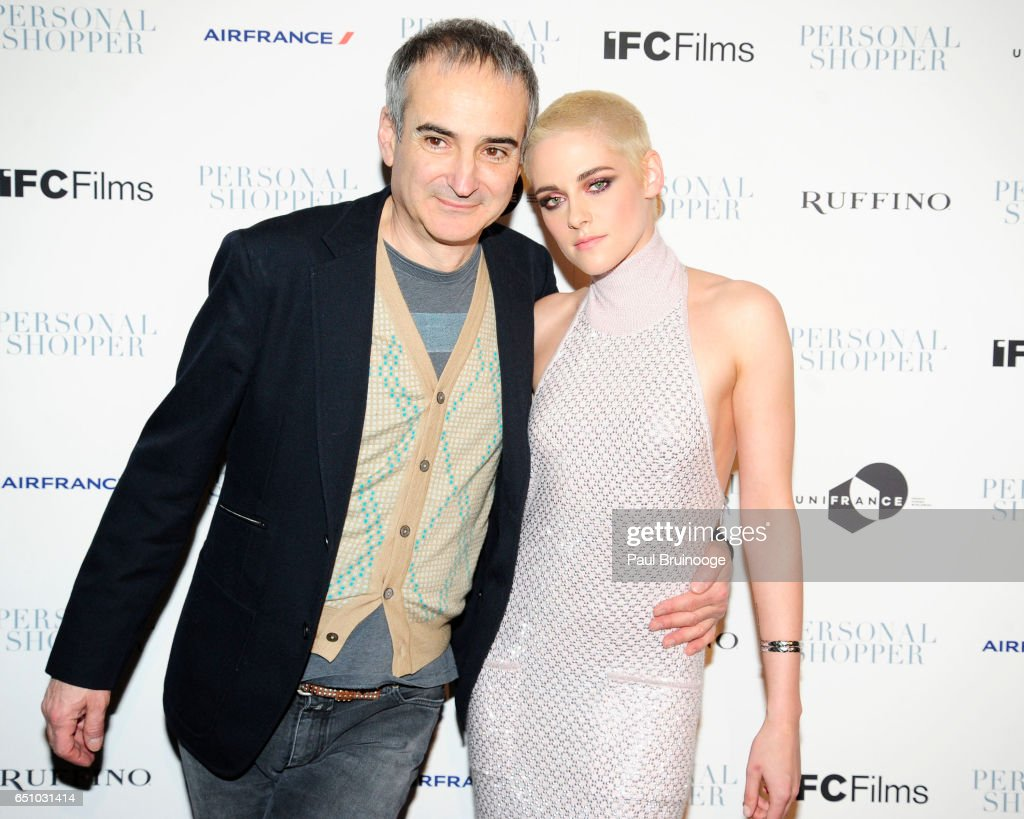 Olivier Assayas and Kristen Stewart attend the 'Personal Shopper' New York Premiere at Metrograph on March 9, 2017 in New York City.