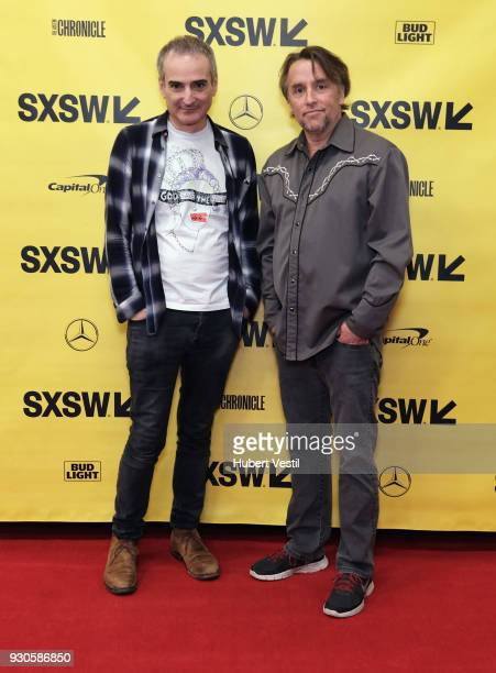 Olivier Assayas and Richard Linklater attend A Conversation with Olivier Assayas during SXSW at Austin Convention Center on March 11 2018 in Austin...