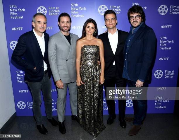 Olivier Assayas Edgar Ramirez Penelope Cruz Wagner Moura and Rodrigo Texeira attend the 57th New York Film Festival Wasp Network arrivals at Alice...