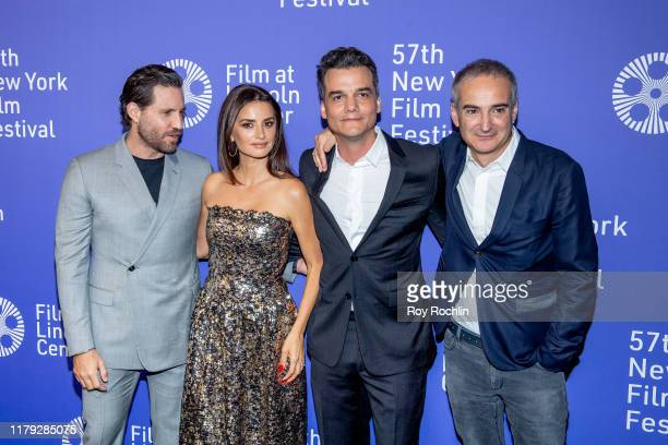 Olivier Assayas Edgar Ramirez Penelope Cruz Wagner Moura and Rodrigo Texeira attend Wasp Network arrivals during the 57th New York Film Festival at...