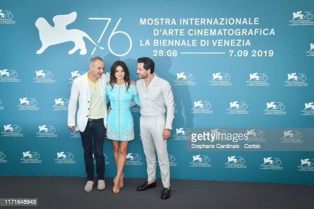 Olivier Assayas Penelope Cruz and Edgar Ramirez attend Wasp Network photocall during the 76th Venice Film Festival at Sala Grande on September 01...