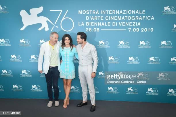 "Olivier Assayas, Penelope Cruz and Edgar Ramirez attend ""Wasp Network"" photocall during the 76th Venice Film Festival at Sala Grande on September 01,..."