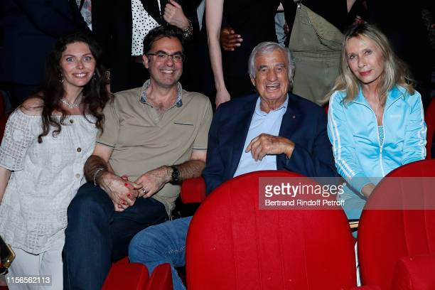 Olivier Belmondo with his wife Audrey Sponsor of the school JeanPaul Belmondo and actress Valerie Steffen attend L'Entree des Artistes Theater School...