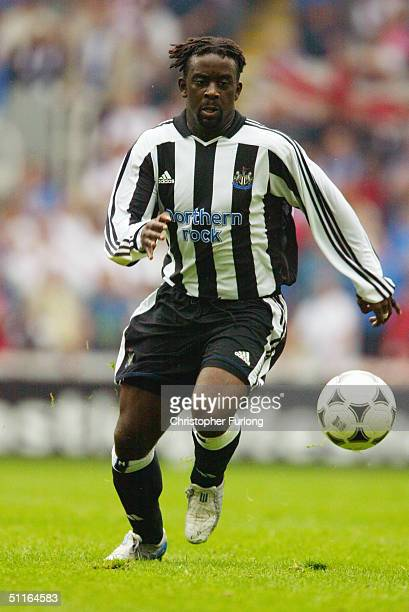 Olivier Bernard of Newcasle United in action during the Newcastle Gateshead Cup match between Newcastle United and Glasgow Rangers at St James's Park...