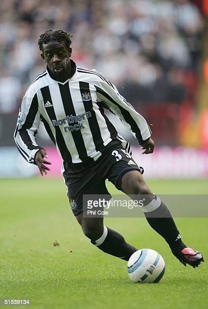 Olivier Bernard of Newcastle United in action during the Barclays Premiership match between Charlton Athletic and Newcastle United at The Valley on...