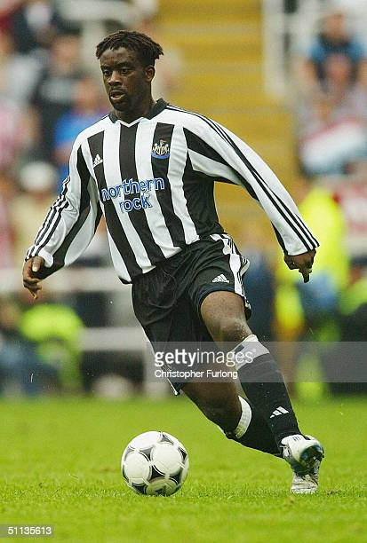 Olivier Bernard of Newcastle United in action during the Newcastle Gateshead Cup match between Newcastle United and Glasgow Rangers at St James's...