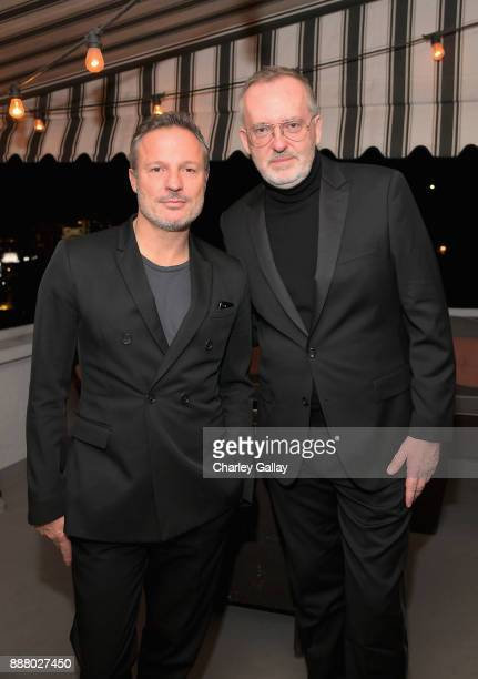 Olivier Bialobos and GQ Creative Director Jim Moore attend GQ and Dior Homme private dinner in celebration of The 2017 GQ Men Of The Year Party at...