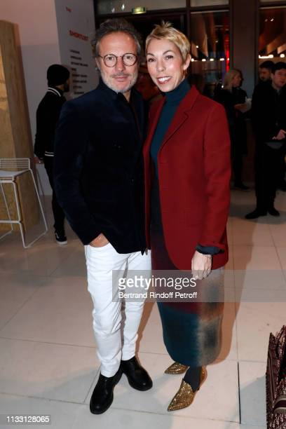 Olivier Bialobos and Mathilde Favier attend the LVMH Prize 2019 Edition at Louis Vuitton Avenue Montaigne Store on March 01 2019 in Paris France