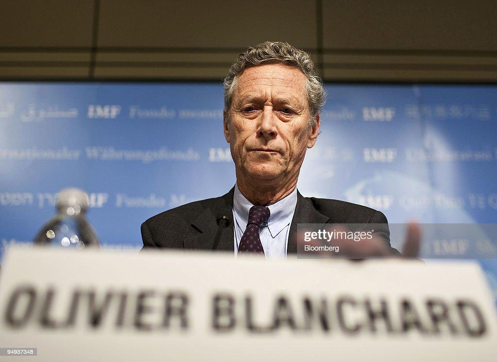 Olivier Blanchard, chief economist for the International Mon : News Photo