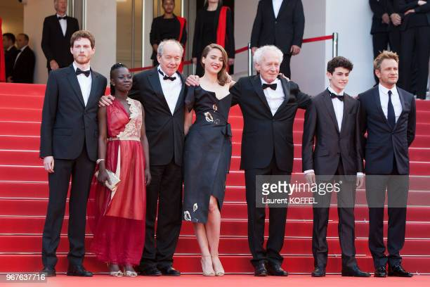 Olivier Bonnaud, Nadege Ouedraogo, Luc Dardenne, Adele Haenel, Jean-Pierre Dardenne, Louka Minnella and Jeremie Renier attend the 'The Unknown Girl '...