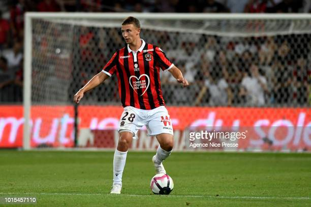 Olivier Boscagli of Nice during the French Ligue 1 match between Nice and Reims at Allianz Riviera Stadium on August 11 2018 in Nice France