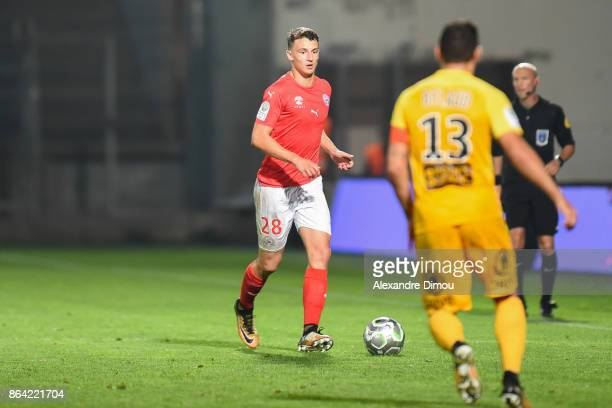 Olivier Boscagli of Nimes during the Ligue 2 match between Nimes Olympique and Stade Brestois at on October 20 2017 in Nimes France