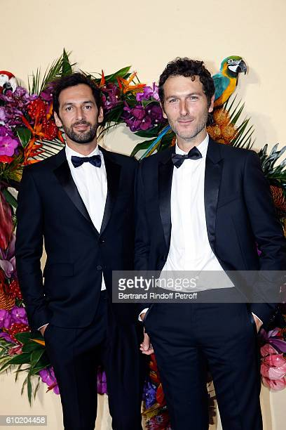 Olivier Coursier and Simon Buret members of the group AaRON attend the Opening Season Gala at Opera Garnier on September 24 2016 in Paris France