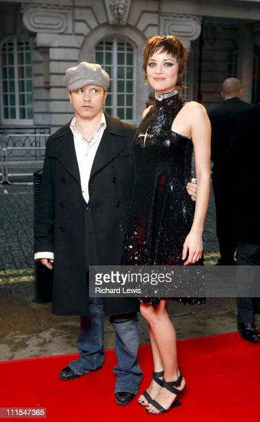 Olivier Dahan and Marion Cotillard during La Mome London Premiere Arrivals at Curzon Mayfair in London Great Britain