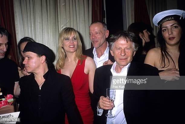 Olivier Dahan Emmanuelle Seigner Pascal Greggory Roman Polanski and hostess