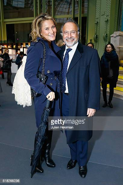 Olivier Dassault and his wife Natacha attend the 'Art Paris Art Fair 2016' at Grand Palais on March 30 2016 in Paris France