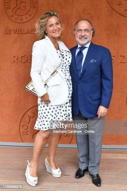 Olivier Dassault and his wife Natacha Nikolajevic attend the 2019 French Tennis Open Day Eight at Roland Garros on June 03 2019 in Paris France