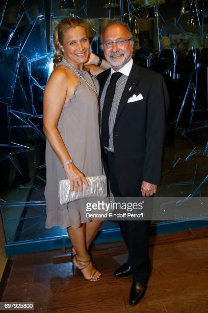 Olivier Dassault and his wife Natacha Nikolajevic attend the Societe ses Amis du Musee d'Orsay Dinner Party at Musee d'Orsay on June 19 2017 in Paris...