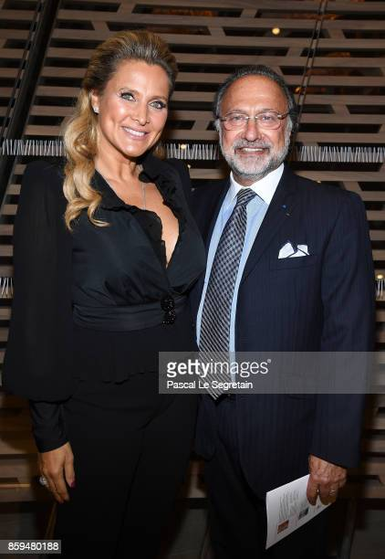 Olivier Dassault and wife attend Etre Moderne Le MoMA A Paris Exhibition at Fondation Louis Vuitton on October 9 2017 in Paris France