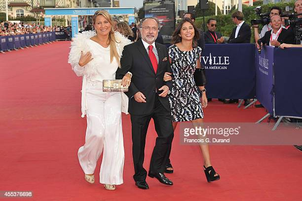 Olivier Dassault arrives with his wife and his daughter at the closing ceremony and the 'Sin City A Dame To Kill For' premiere of during the 40th...