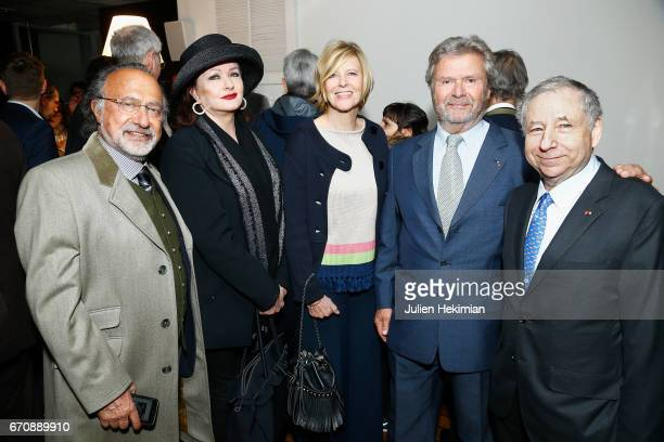 Olivier Dassault Catherine Jacob Chantal Ladesou President of the Cartier Fondation Alain Dominique Perrin and Jean Todt attend 'Auto Photo'...