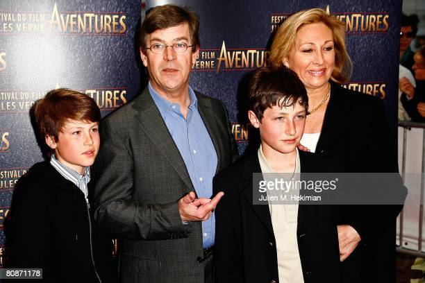 Olivier De Funes and his family attend the Jules Verne Adventure Film Festival at the Grand Rex on April 26 2008 in Paris France