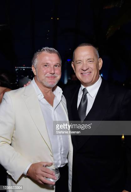 Olivier de Givenchy and Tom Hanks attend the Academy Museum of Motion Pictures: Opening Gala honoring Haile Gerima and Sophia Loren, and Museum...