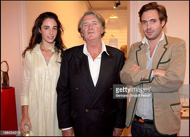 Olivier de Kersauson with his son Arthur and Arthur's wife Clotilde de Kersauson at Ines De La Fressange Awarded Knight in the National Order of the...