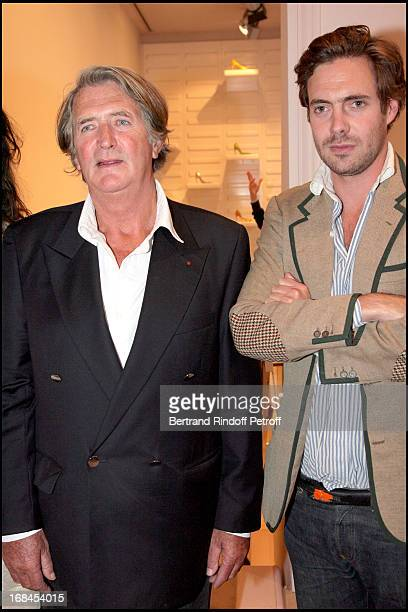 Olivier de Kersauson with his son Arthur at Ines De La Fressange Awarded Knight in the National Order of the Legion of Honor.